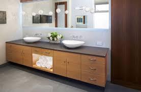 Narrow Powder Room - great bathroom designs back lit mirror atop cabinets master ideas