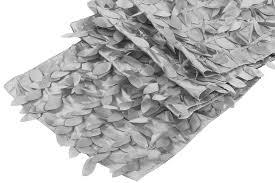 Leaf Table Runner Leaf Petal Taffeta Table Runner Silver Cv Linens