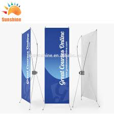 Stand Up Flag Banners Trade Show Mini X Banner Roll Up Banner Stand Vinyl Pvc Flex