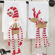 christmas towels knit dangle legs christmas towels smocked auctions