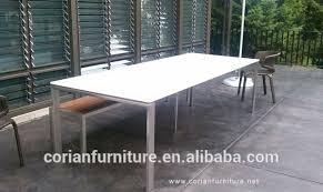 corian table tops base en acier inoxydable corian tabltop en plein air table de