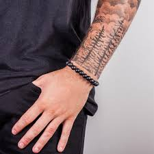 black bead bracelet men images Urban male black wooden bead men 39 s bracelet 10mm urban male jpg