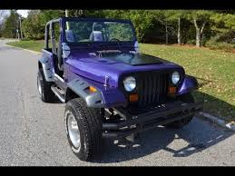 1992 jeep wrangler new u0027plum crazy u0027 purple paint new tires