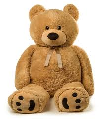 amazon com jumbo teddy bear 5 feet tall tan toys u0026 games