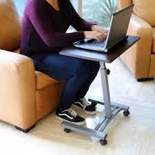 Bed Laptop Desk Brown Height Adjustable Laptop Desk Sofa Side Bed Table