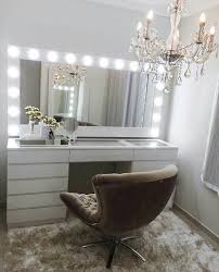 Bedroom Makeup Vanity With Lights Pinterest Claudiagabg Makeup Organization Pinterest