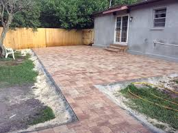 Basket Weave Brick Patio by Brick Pavers Brandon Florida Driveway Pavers Great Price