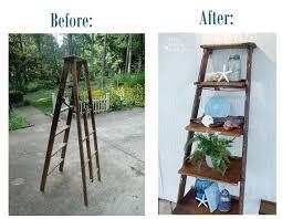 diy ladder shelf vintage ladder shelving unit tall ladder shelf