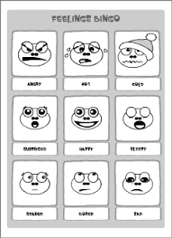 feelings vocabulary for kids learning english printable resources