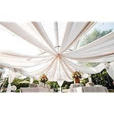 ceiling draping 10x20 ft ceiling draping sheer voile chiffon ceiling