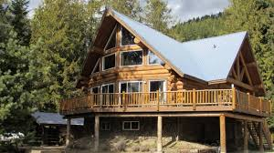 north idaho custom log home for sale