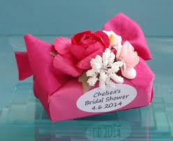 personalized soap personalized mini soap favor decorated with flowers available in