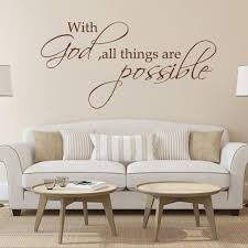 with god all things are possible religious wall decal bible verse with god all things are possible religious wall decal bible verse vinyl art quote 28cm x 56cm in wall stickers from home garden on aliexpress com