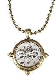 wax seal jewelry two tone bee charm wax seal pendant necklace heirloom finds jewelry