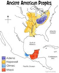 World Map To Color by Hopewell People And Other Ancient North American Civilizations