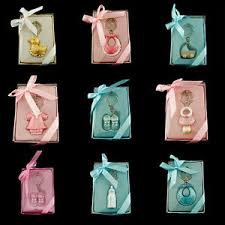 keepsake keychains baby shower keepsake keychains pink blue pacifier bottle rattle