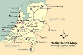 netherlands map cities how to travel throughout the netherlands by rail