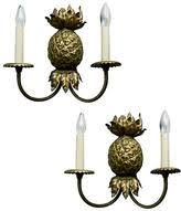 Pineapple Sconce One Kings Lane Vintage Wall Lighting Shopstyle
