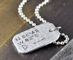 necklace personalized pendant images Mountain necklace men 39 s coordinates necklace latitude longitude jpg