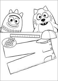 yo gabba gabba coloring page coloring pages for y u