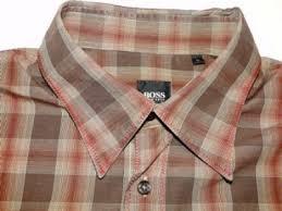design hemd newest style hugo design hemd langarm braun kariert