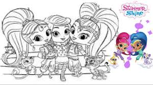 shimmer and shine coloring pages all coloring page