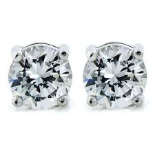stud earings 14k diamond simulated 2ct post stud earrings cate