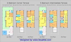5 bedrooms terraced semi detached house floor plan features modern