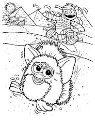 furby vacation at egypt meet mummy coloring pages batch coloring