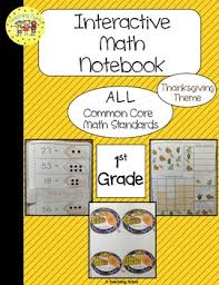 thanksgiving interactive 1st grade math notebook by teaching tykes