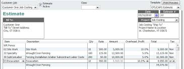 Estimates For Fence Installation by Quickbooks For Contractors Tip Advanced Progress Invoicing
