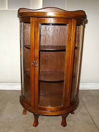 antique curio cabinet with curved glass elegant antique curio cabinets quarter sawn oak curved glass china