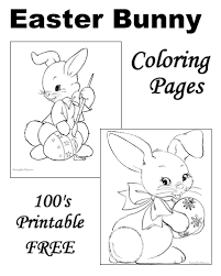 easter bunny coloring pages free printable