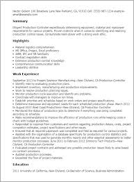 Sample Resume For Encoder by Professional Production Controller Templates To Showcase Your