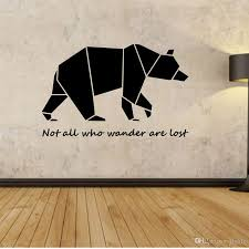 large geometric bear vinyl quote wall decal sticker home large geometric bear vinyl quote wall decal sticker home decoration art mural for living room bedroom