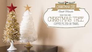 diy tree coffee filter tinsel arbol navideño