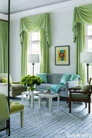 Green And White Curtains Decor Home Designs Curtain Designs For Living Room Living Room White