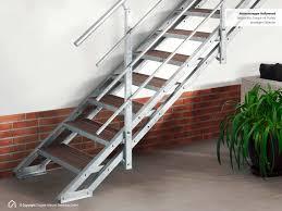 treppen intercon gmbh außentreppe mit podest und stufen aus wpc jetzt kaufen