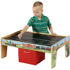 Play Table With Storage by 50 Piece Train Set With 2 In 1 Activity Table Walmart Com
