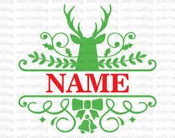 monogram christmas christmas monogram etsy