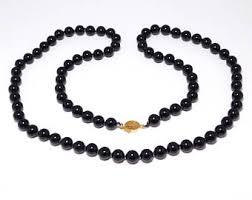 etsy beads necklace images Onyx beads necklace etsy jpg