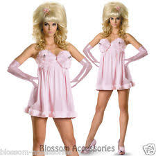 Austin Powers Halloween Costumes Austin Powers Fembot Sassy Deluxe Pink Dress Halloween Costume Ebay