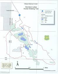 Map Of Michigan Lakes by Michigan Trail Maps