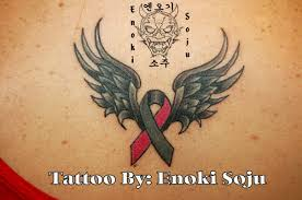 wings breast cancer tattoo on wrist in 2017 real photo pictures