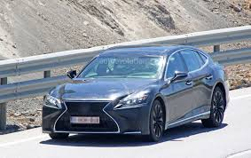 new lexus ls 2017 spyshots 2019 lexus ls f spotted could pack twin turbo v8