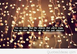 inspirational quote with lights