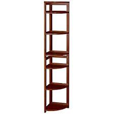 40 Inch High Bookcase Amazon Com Casual Home 4 Shelf Corner Folding Bookcase Honey Oak