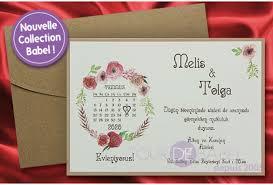 calendrier mariage part mariage calendrier en fleur