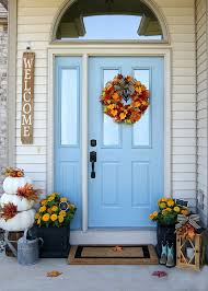 cheery fall front door decorations the home depot