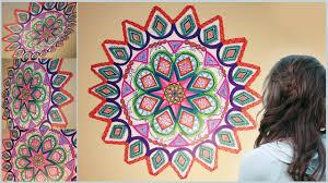 diy mandala zentangle wall mural doodle art for your room diy rigs